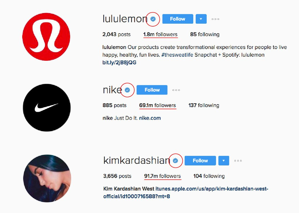 verified instagram accounts